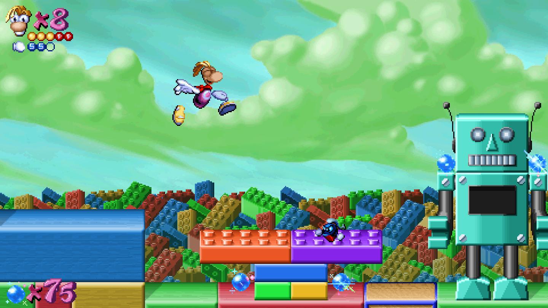 A screenshot of the Toyland level